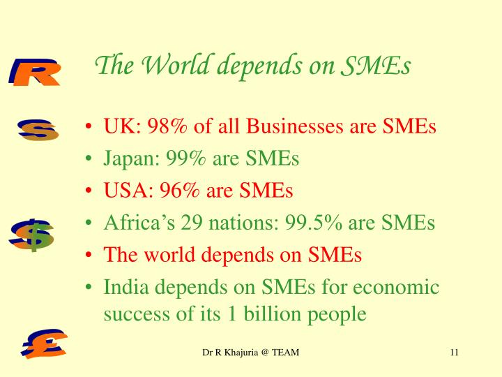 The World depends on SMEs