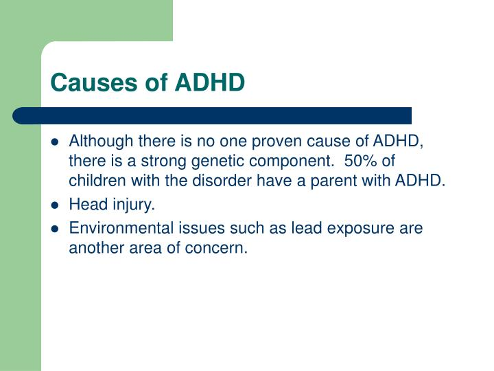 Causes of ADHD