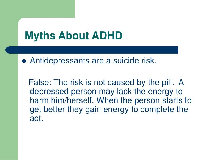 Myths About ADHD