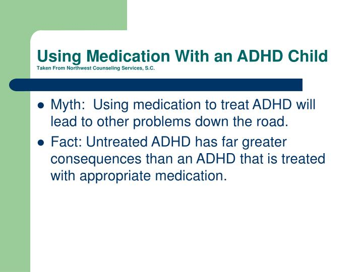 Using Medication With an ADHD Child