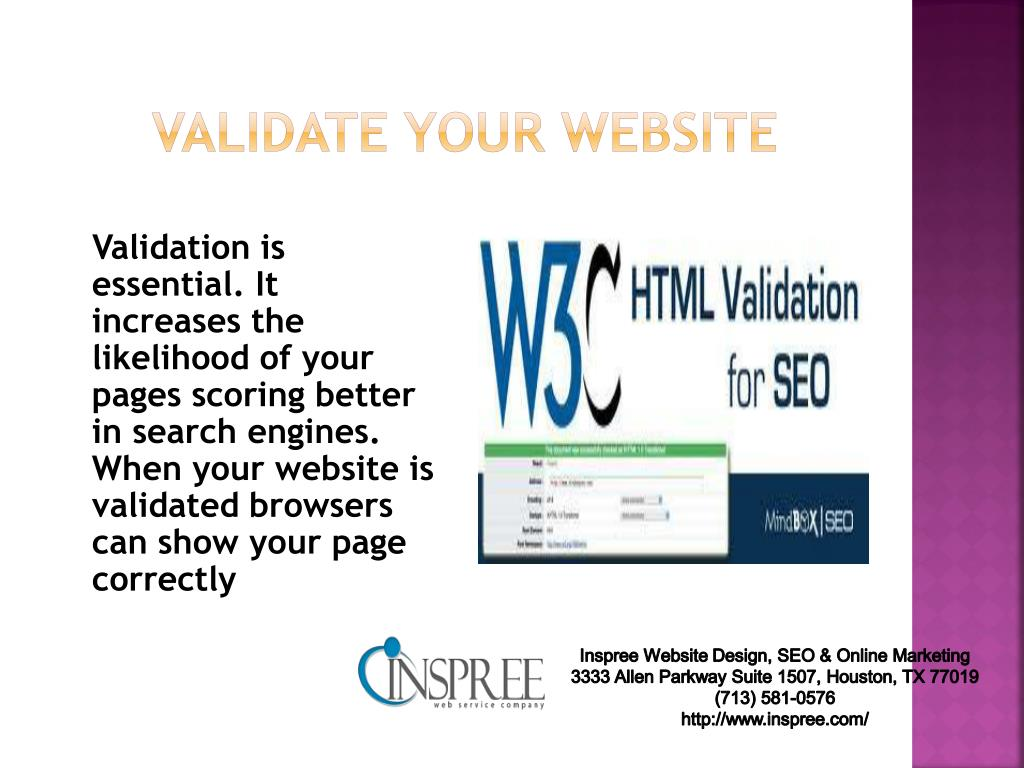 validate your website