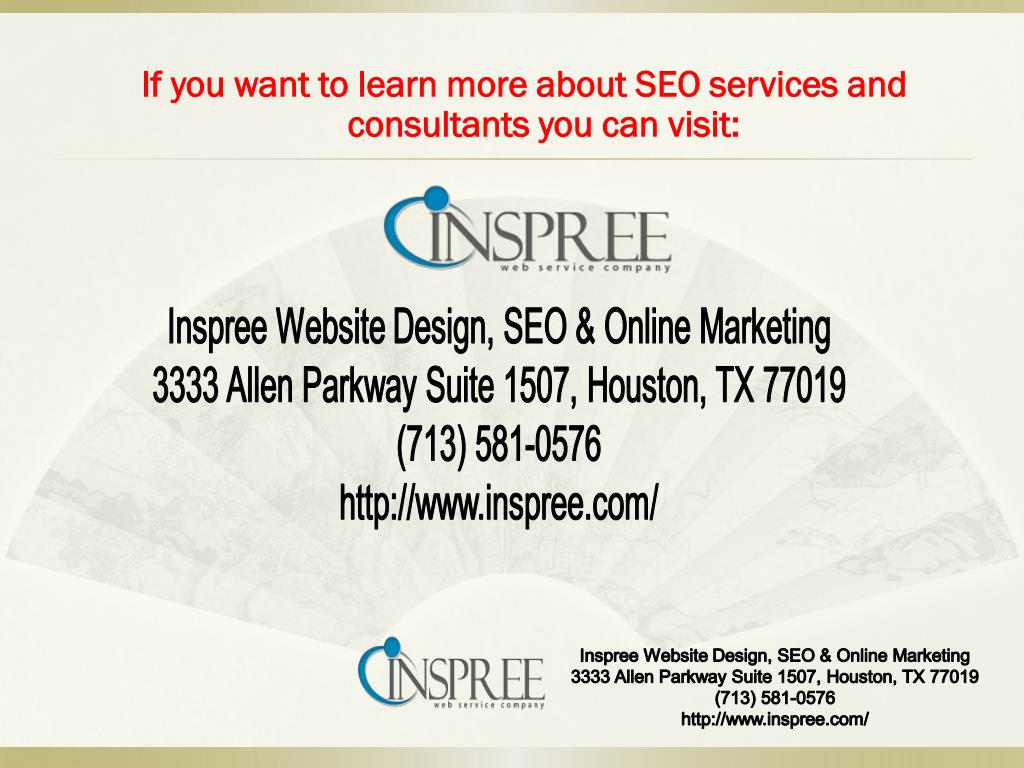 If you want to learn more about SEO services and consultants you can visit: