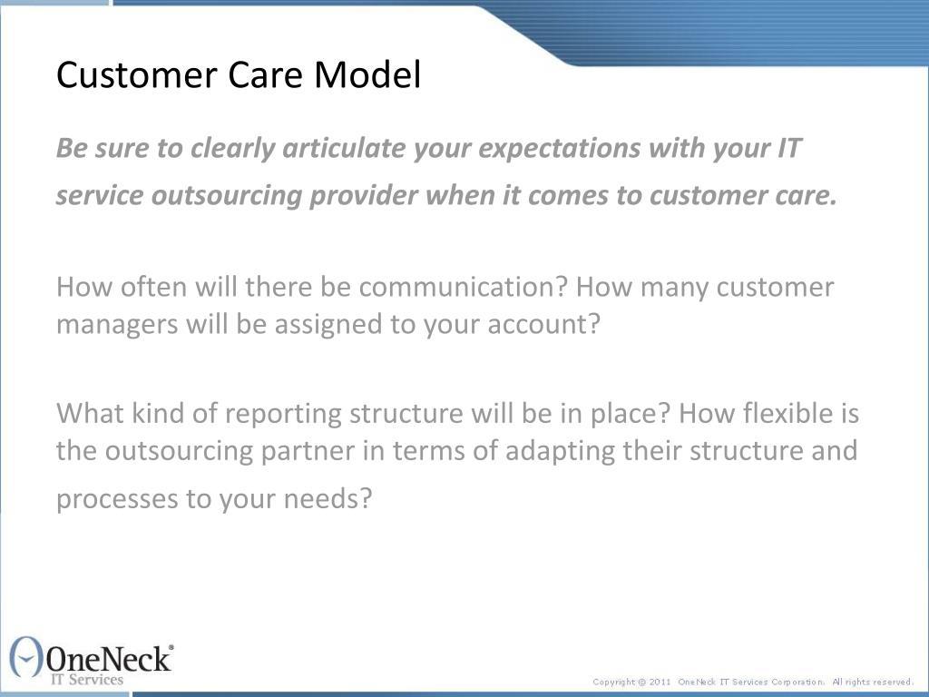 Customer Care Model