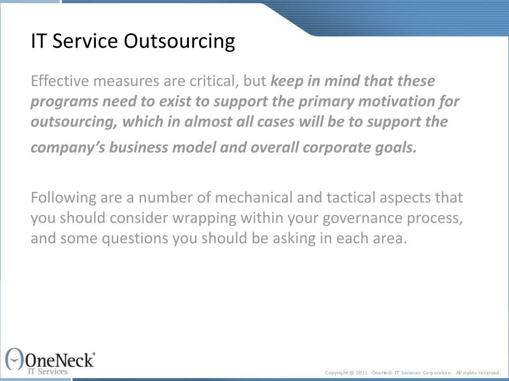IT Service Outsourcing