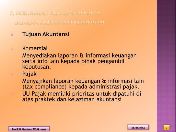 2. Hubungan Akuntansi Pajak