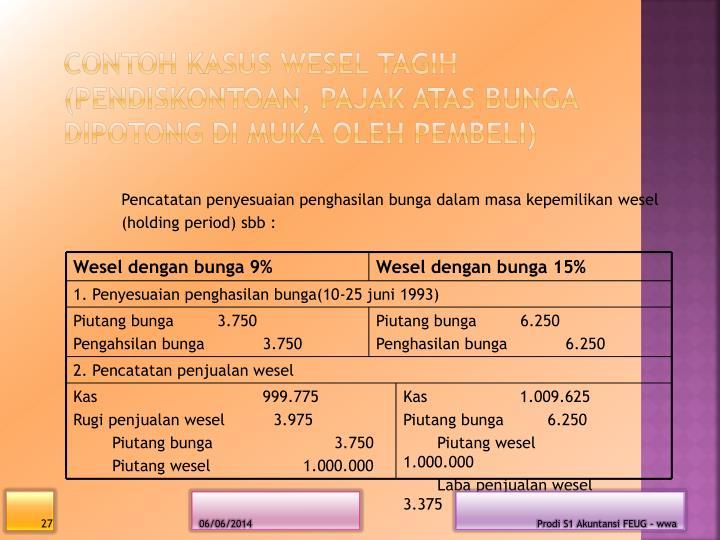 Wesel dengan bunga 9%