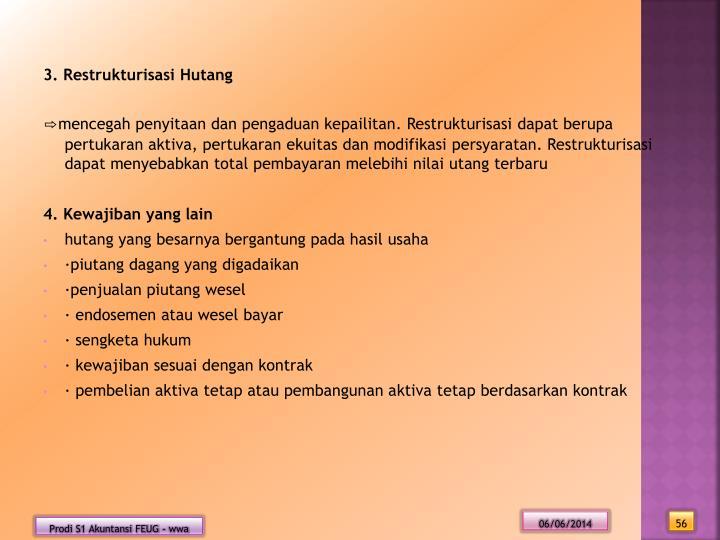3. Restrukturisasi Hutang