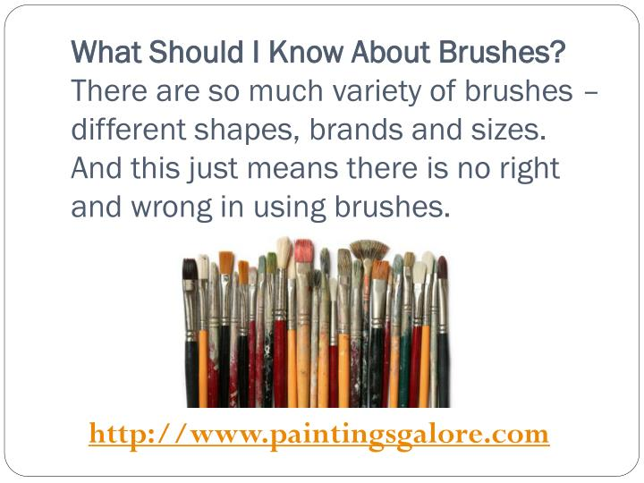What Should I Know About Brushes?