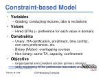 constraint based model