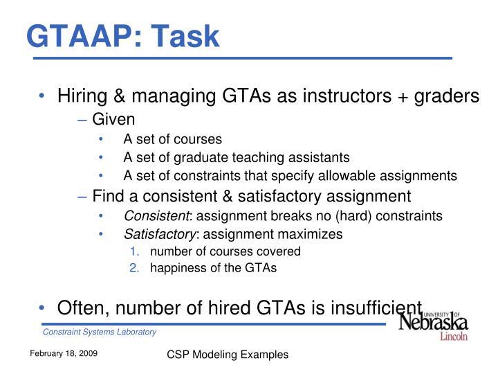 GTAAP: Task
