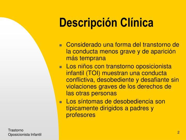Descripción Clínica
