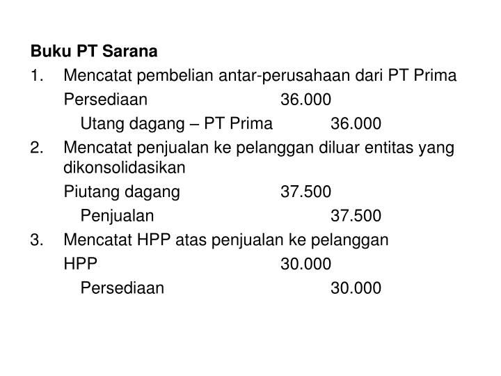 Buku PT Sarana