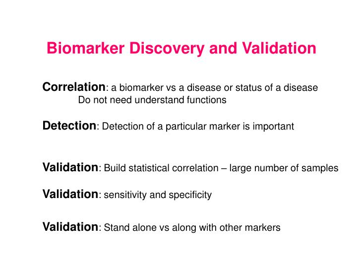 Biomarker Discovery and Validation