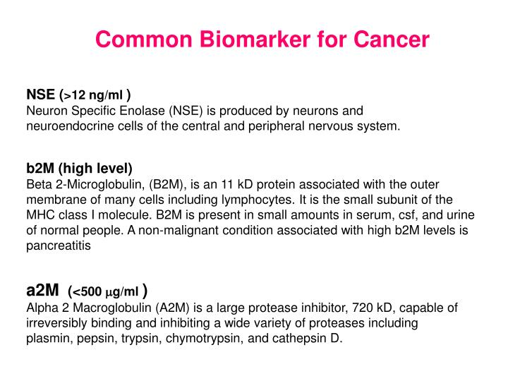 Common Biomarker for Cancer