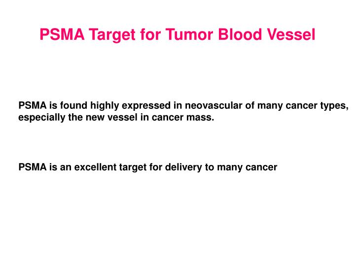PSMA Target for Tumor Blood Vessel