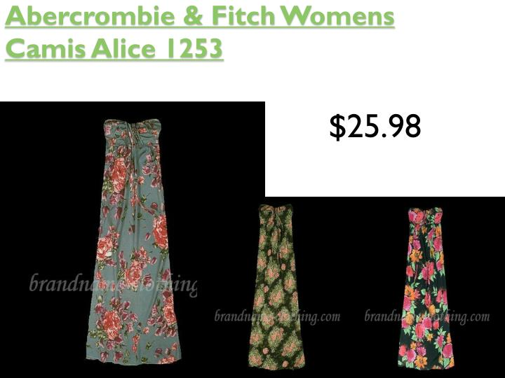 Abercrombie fitch womens camis alice 1253
