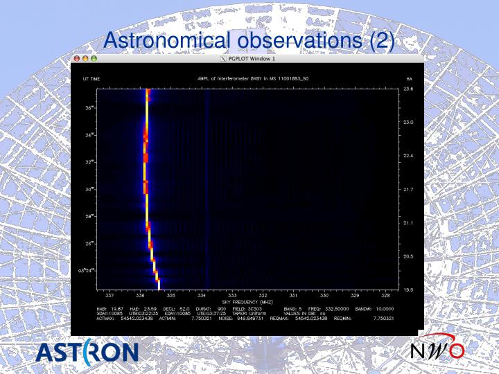 Astronomical observations (2)