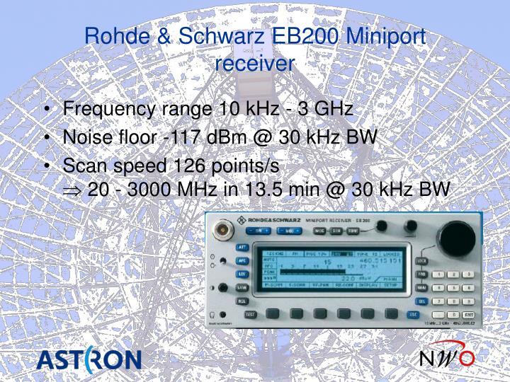 Rohde & Schwarz EB200 Miniport receiver