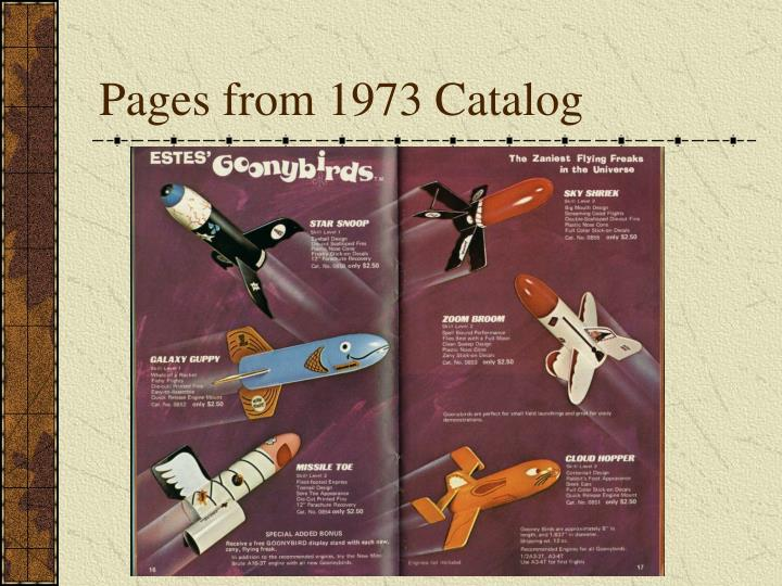 Pages from 1973 Catalog
