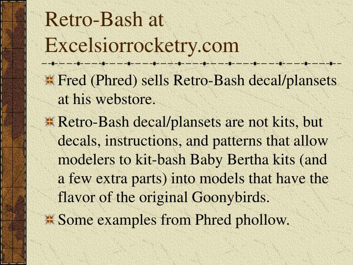 Retro-Bash at Excelsiorrocketry.com