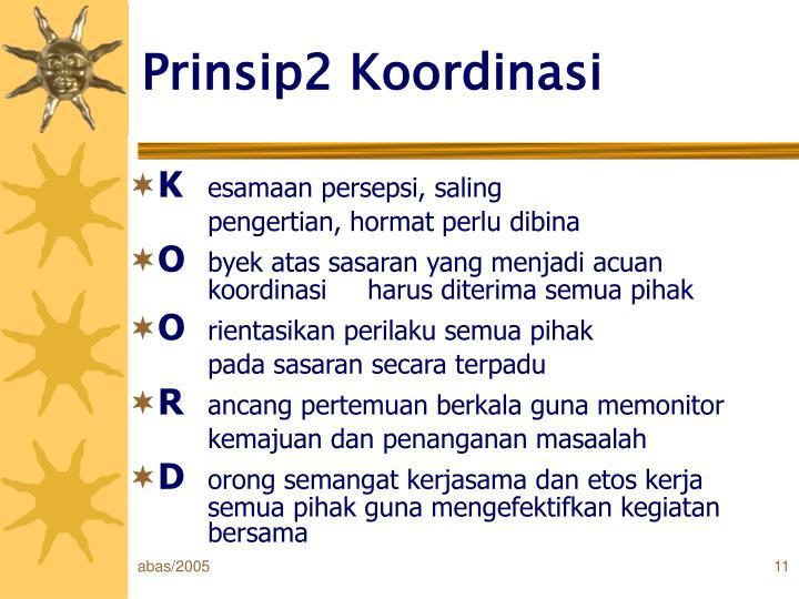 Prinsip2 Koordinasi