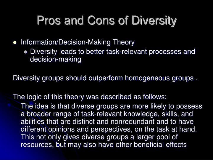 pros plus drawbacks from pluralism