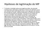 hip teses de legitima o do mp