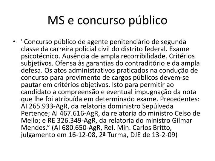 MS e concurso público