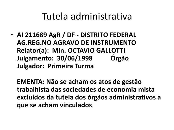 Tutela administrativa