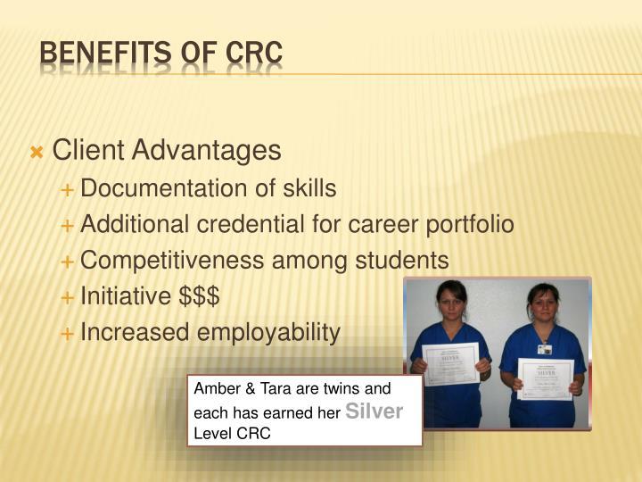 Client Advantages