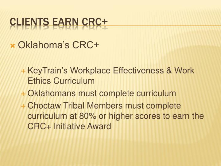 Oklahoma's CRC+