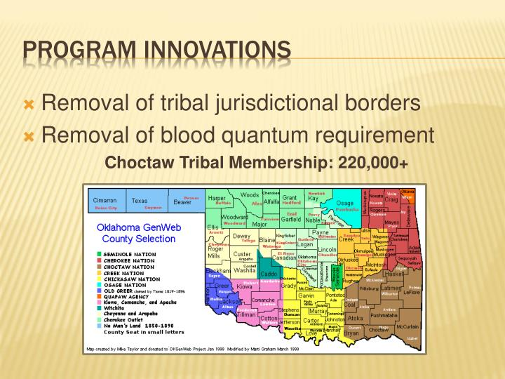 Removal of tribal jurisdictional borders