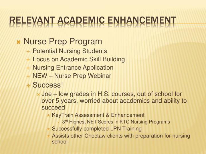 Nurse Prep Program