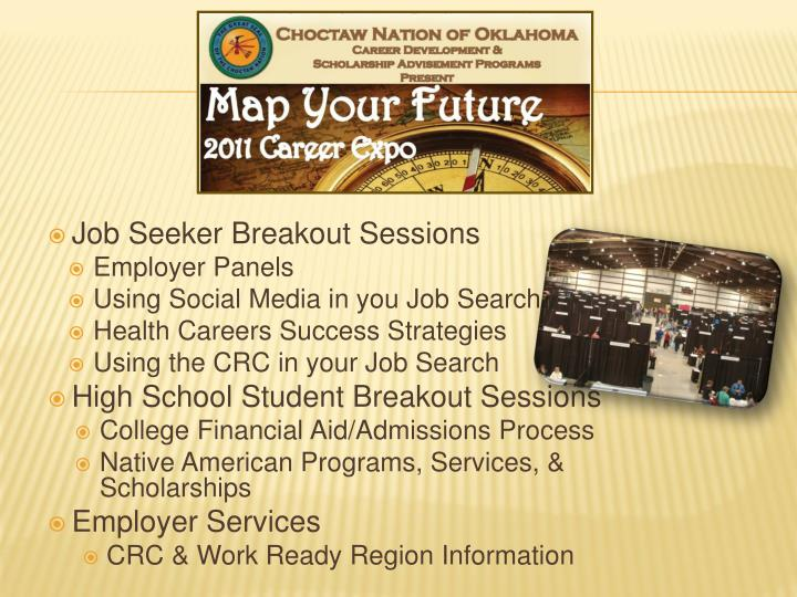 Job Seeker Breakout Sessions