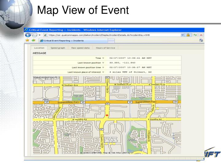 Map View of Event
