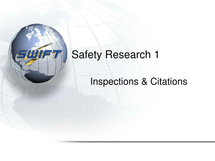 Safety Research 1