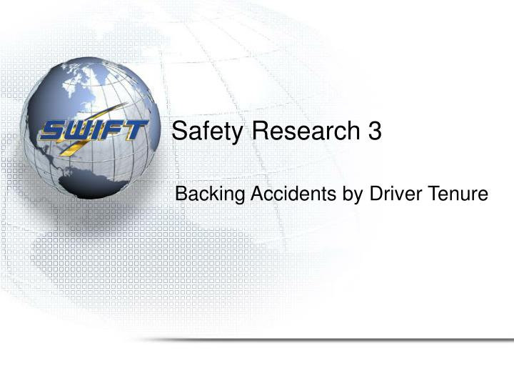 Safety Research 3