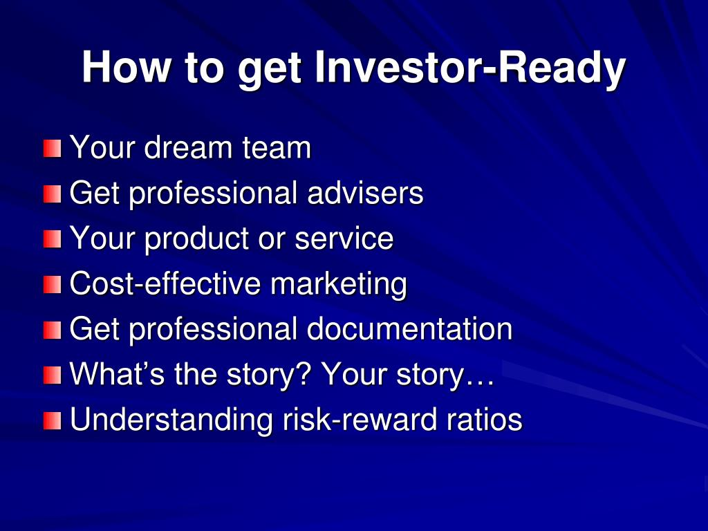 How to get Investor-Ready