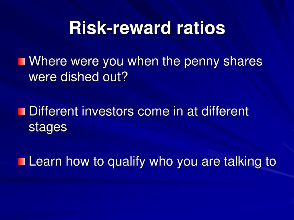 Risk-reward ratios