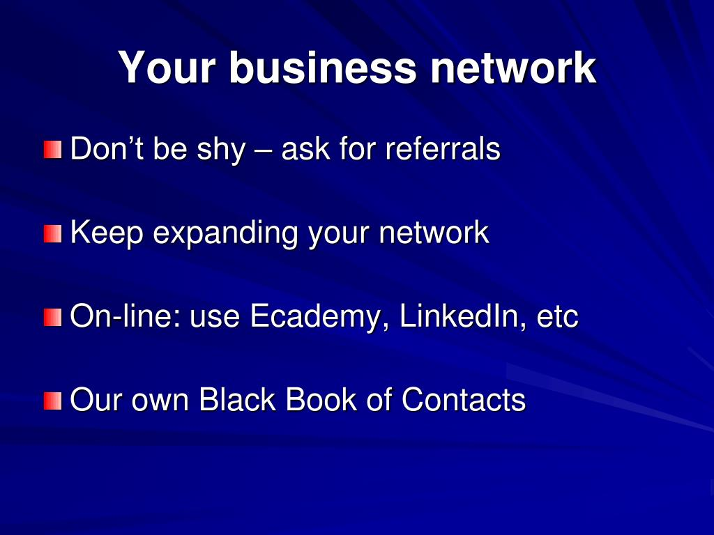 Your business network