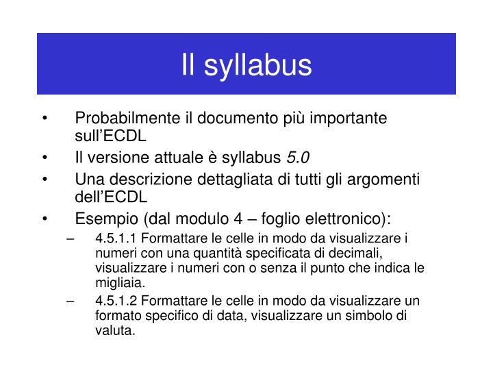 Il syllabus
