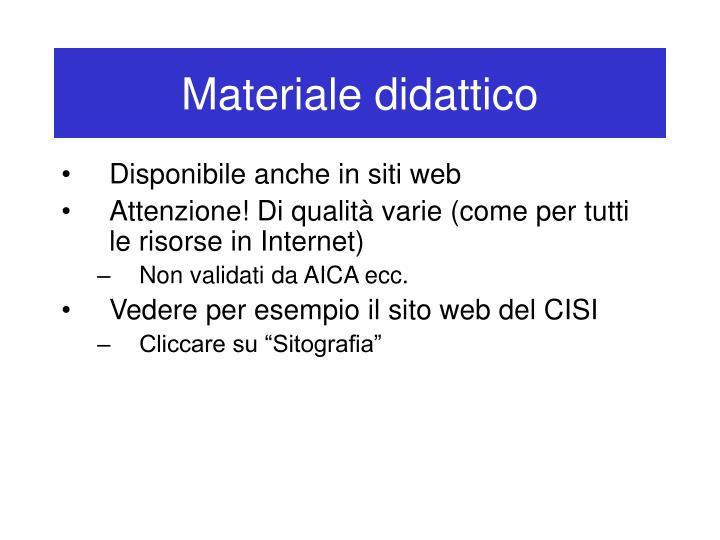 Materiale didattico