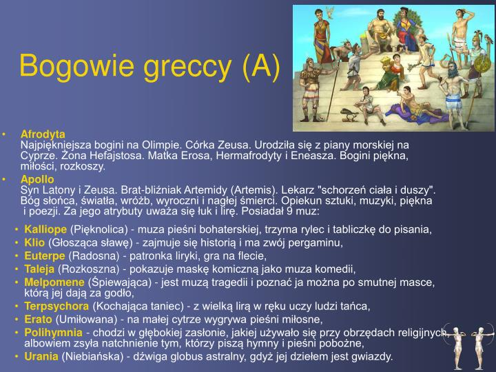 Bogowie greccy a