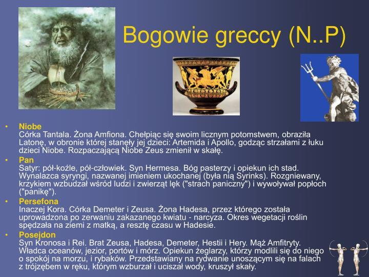Bogowie greccy (N..P)