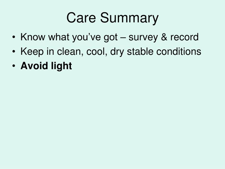 Care Summary