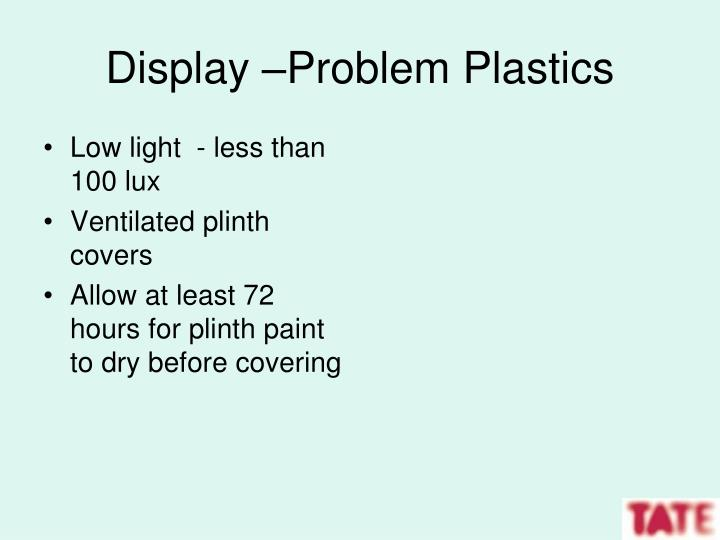 Display –Problem Plastics
