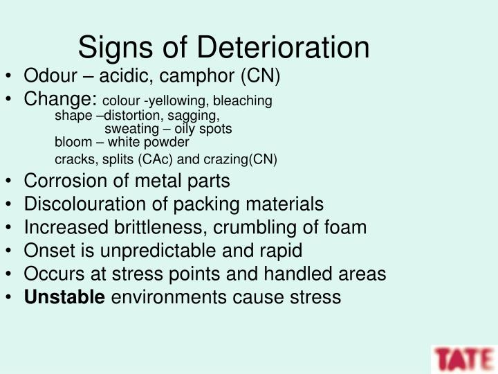 Signs of Deterioration