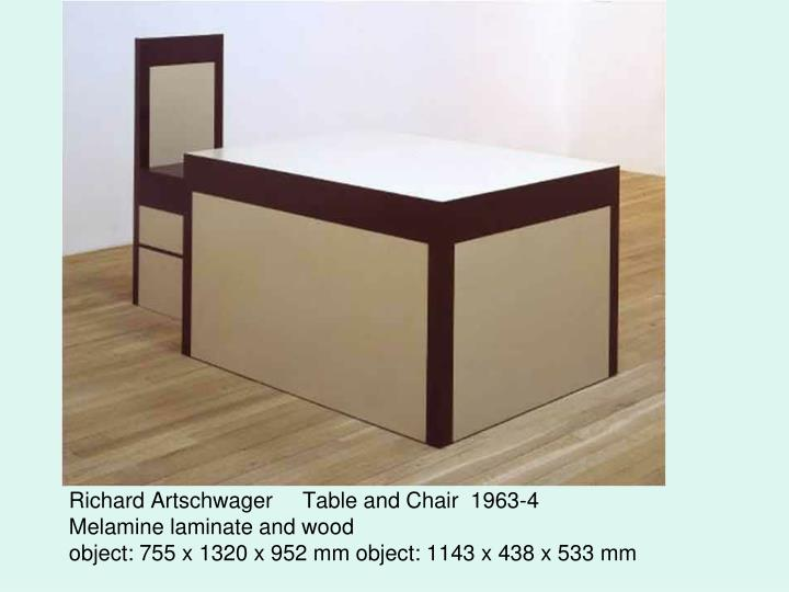 Richard Artschwager     Table and Chair  1963-4