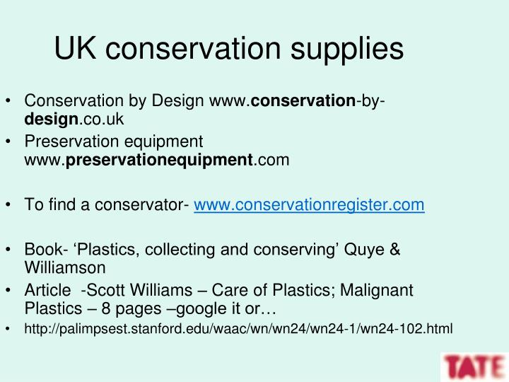 UK conservation supplies