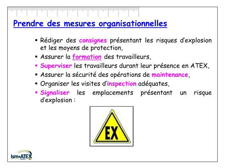 Prendre des mesures organisationnelles